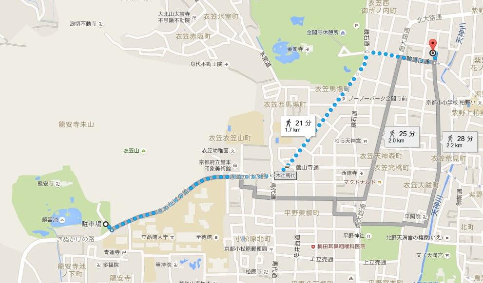 京都・龍安寺へのアクセス・行き方