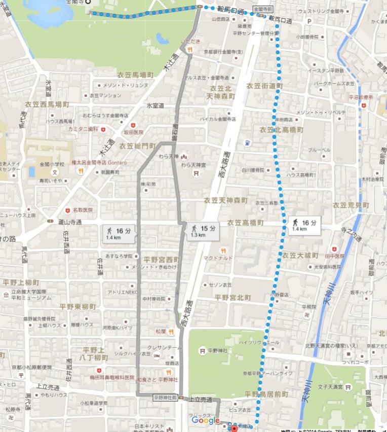 駐車場名「平野神社駐車場」も無料