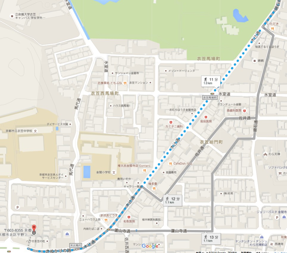 駐車場名は「金閣寺・上柳町駐車場」は予約できる駐車場
