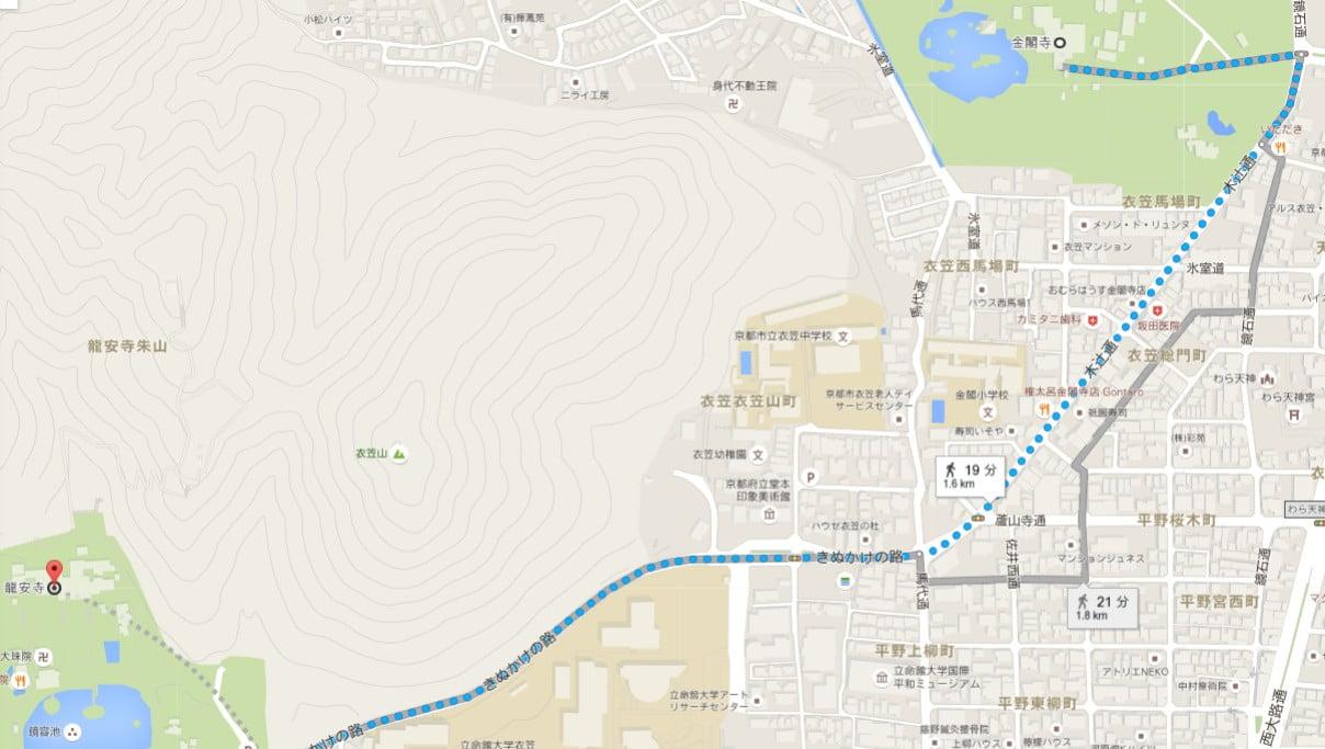 京都・龍安寺の駐車場