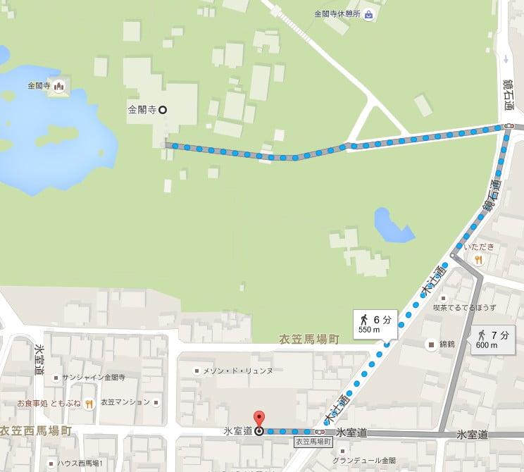 金閣寺・第4駐車場の場所(住所)
