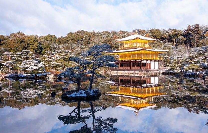 京都・金閣寺の見どころ【その3】「鏡湖池(きょうこち)」