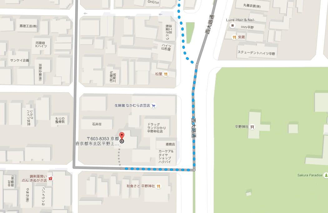↑金閣寺の周辺・付近のレンタサイクルショップ【地図】
